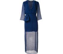 Gepunktetes Kleid mit semi-transparentem Design