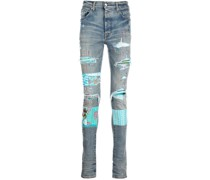 Slim-Fit-Jeans mit Patches
