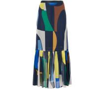 geometric print ruffled skirt