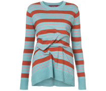 striped pintuck sweater