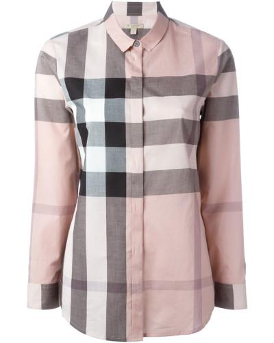 Burberry damen kariertes hemd reduziert - Burberry hemd damen ...