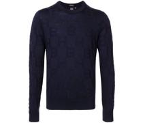 Jacquard-Pullover mit Initialen