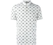 Poloshirt mit Kronen-Print