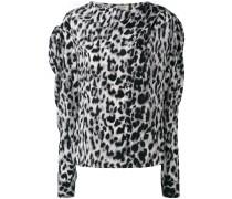 Seidenoberteil mit Leoparden-Print