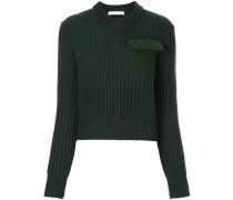 patchwork pocket jumper