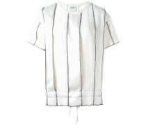 panelled pinstripe top