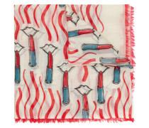 Schal mit Lippenstift-Print