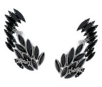 'Climbing' Ohrring mit schwarzen Kristallen