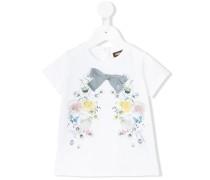 - T-Shirt mit Schleife - kids - Baumwolle/Elastan