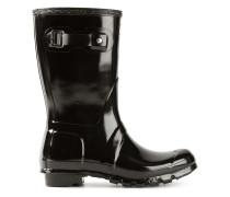 patent wellington boots