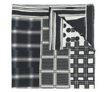 mix-print wool scarf