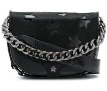 star embellished satchel bag
