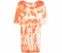 tie dye-print T-shirt dress