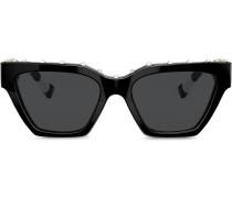 Eckige Sonnenbrille mit Nieten