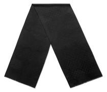 GG jacquard cashmere scarf
