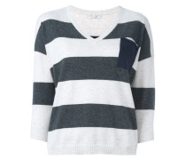 striped pocket detail jumper