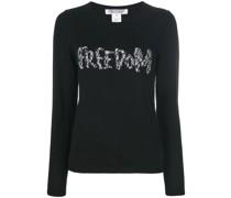 """Pullover mit """"Freedom""""-Schriftzug"""