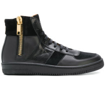 zip high-top sneakers