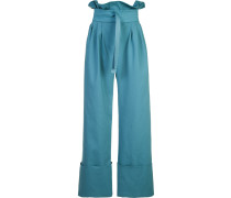 Palazzohose mit Paperbag-Taille