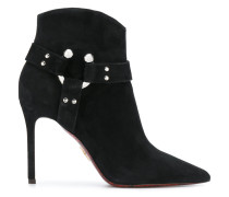 buckle detail pointed ankle boots