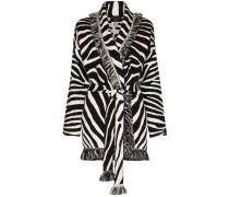Jacquard-Cardigan mit Zebra-Print
