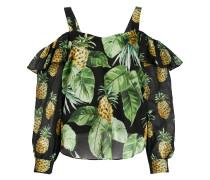 Bluse mit Ananas-Print