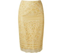 'renascença' lace pencil skirt