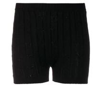Shorts mit Zopfmuster