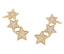 18kt ''Stasia' Ear Cuff aus Gelbgold mit Diamanten