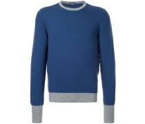 contrast colour sweater