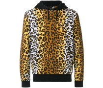 Kapuzenpullover mit Leoparden-Print