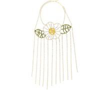 Drapierte Halskette mit Blumendetail