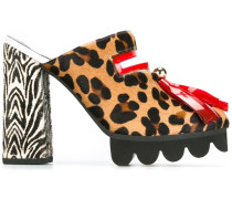 Mules mit Leopardenmuster