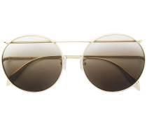 gradient round-shaped sunglasses