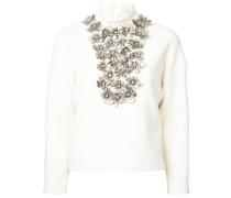 Pullover mit Blumen-Applikationen