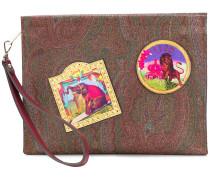 badge design clutch bag