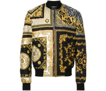 baroque quilted bomber jacket
