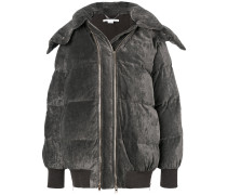 double zip padded coat