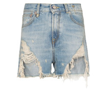 Jeansshorts in Distressed-Optik