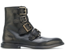 buckle strap ankle boots