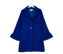 Teen ruffle detail coat