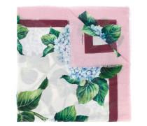 Schal mit Hortensien-Print