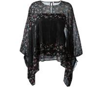 Drapierte Bluse mit Blumen-Print