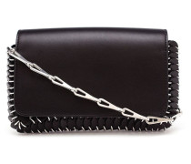 Leather Chain-Mail Clutch Bag