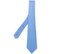 geometric pattern tie - men - Seide
