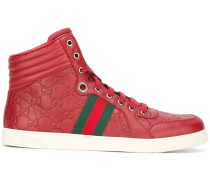 High-Top-Sneakers mit Webstreifen