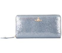 Portemonnaie im Metallic-Look - women - Leder