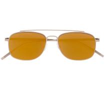 Pilotenbrille mit orangen Gläsern
