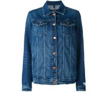 - button-up denim jacket - women - Baumwolle - M