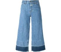 Jeans-Culottes mit hohem Bund